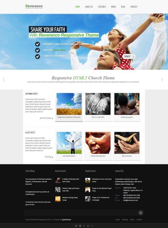 Reverence - Church Responsive HTML 5 Theme