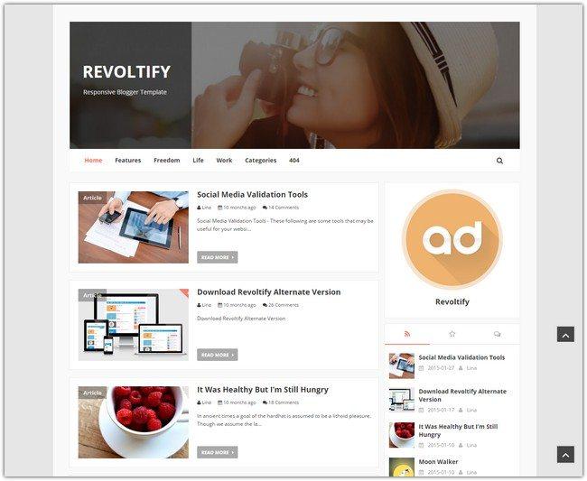 Revoltify Blogger Template
