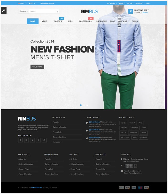 Rimbus - Fashion eCommerce PHP Template