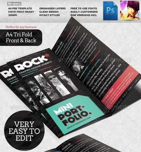 Rock Tri-fold Portfolio Template