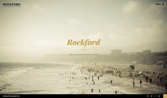 Rockford – Fullscreen Photography WordPress Theme