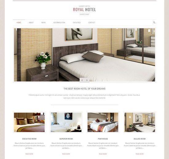 Royal - Hotel and Resort WordPress Theme