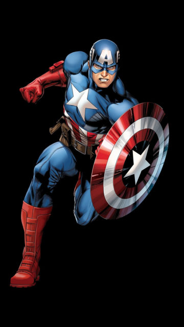 Running Captain America with shield Iphone-415434