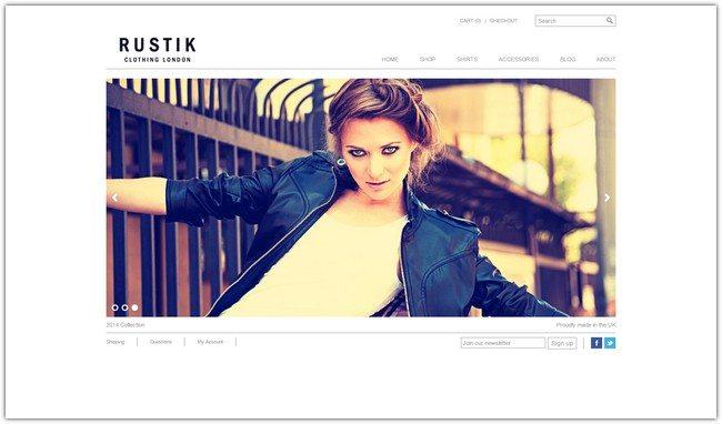Rustik – Minimalist WooCommerce Theme