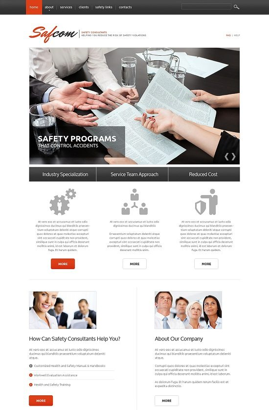 SAFCOM Consulting Responsive Website Template