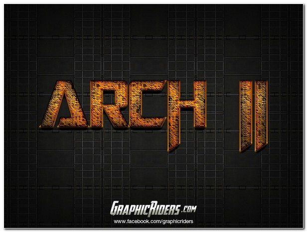 SCI-FI PHOTOSHOP TEXT EFFECT ARCH 2