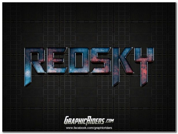 SCI-FI STYLE TEXT EFFECT RED SKY