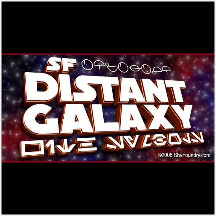SF Distant Galaxy Font - by ShyFoundry