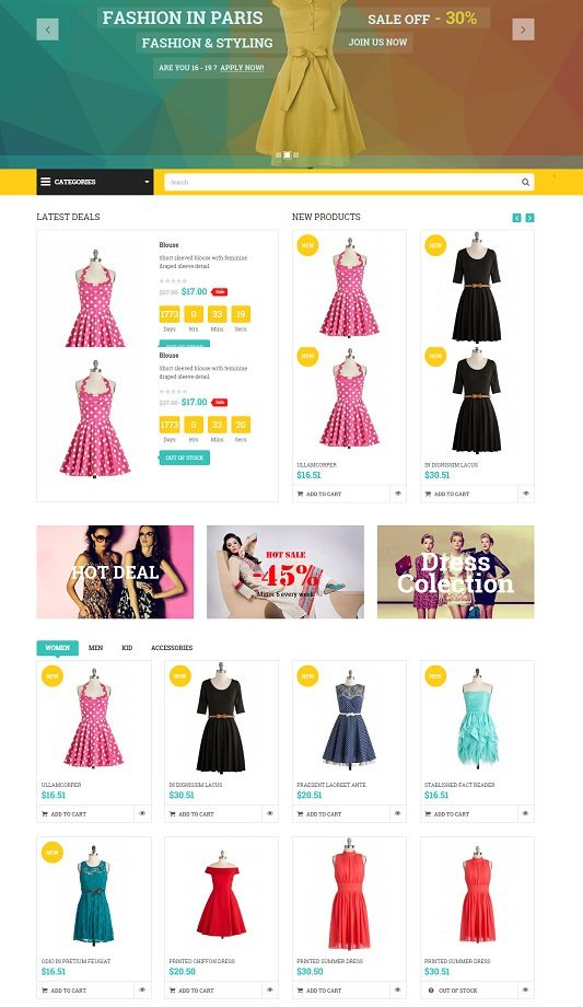 SNS Paris - Responsive Prestashop Theme