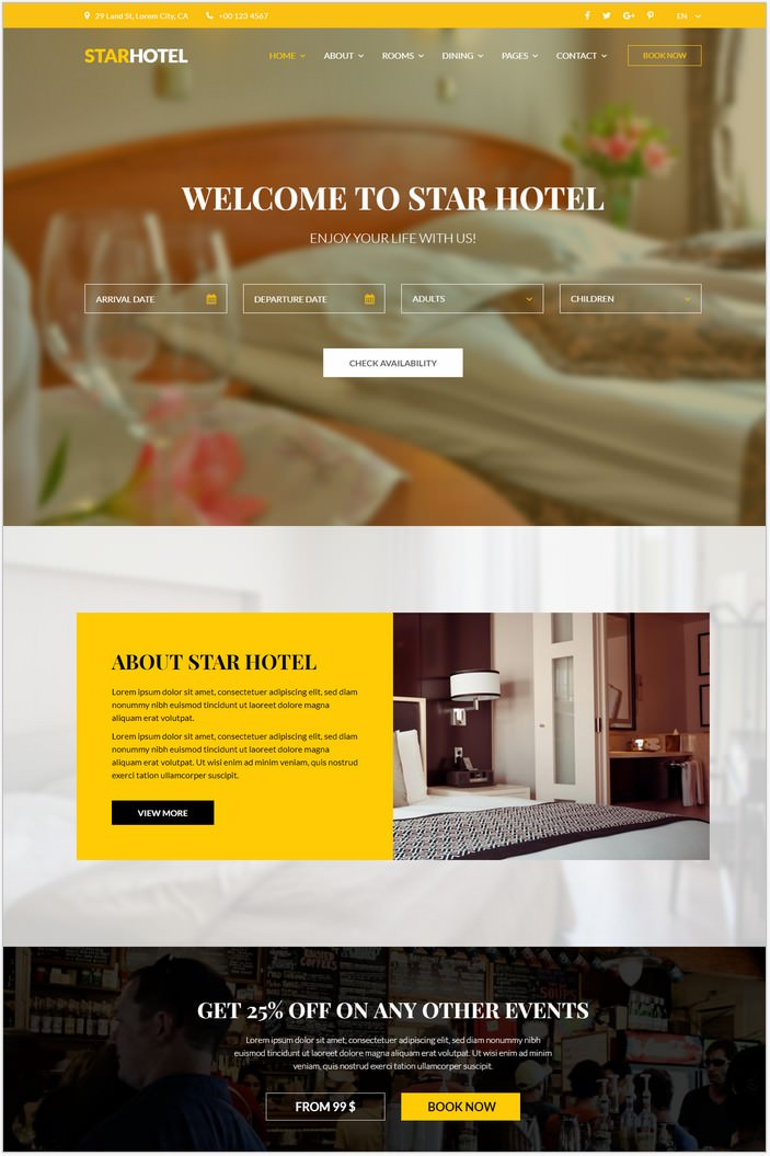 STAR HOTEL - Booking HTML5 Template