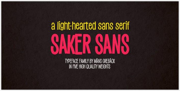 Saker Sans Bold font– by Måns Grebäck