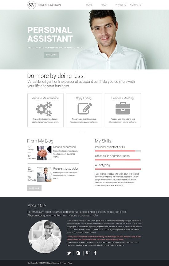 Sam Kromstain Consulting Responsive Website Template