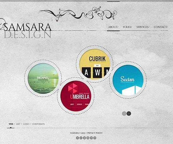 Samsara Design Studio Website Template