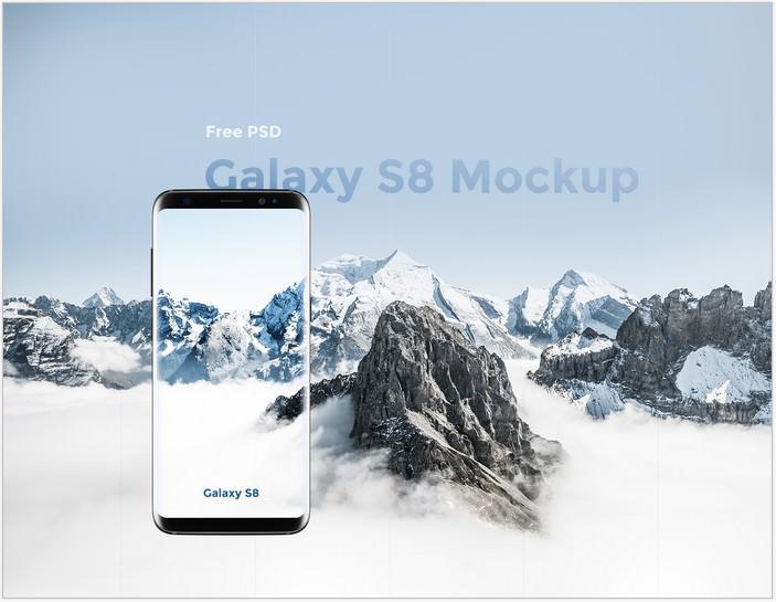 Samsung Galaxy S8 Mockup PSD Free PSD
