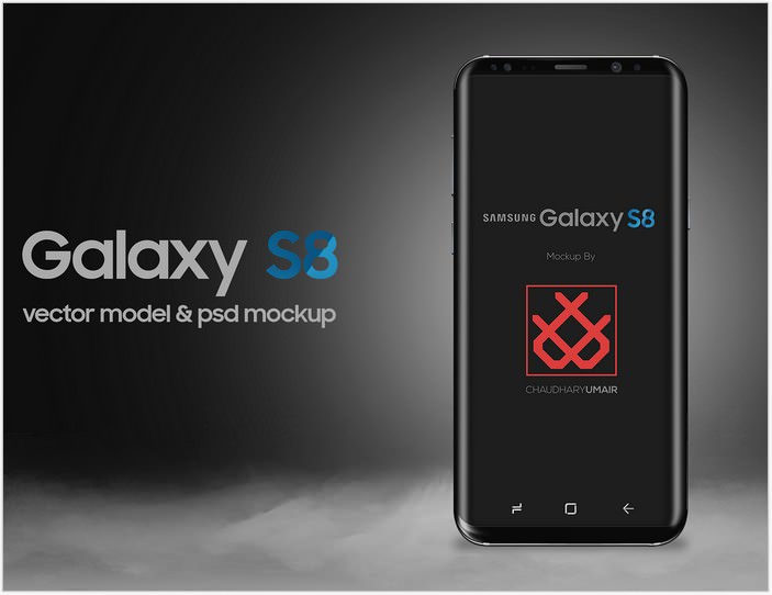Samsung Galaxy S8 Mockup PSD Free