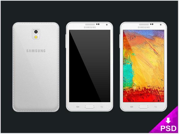 Samsung Note 3 Mockup