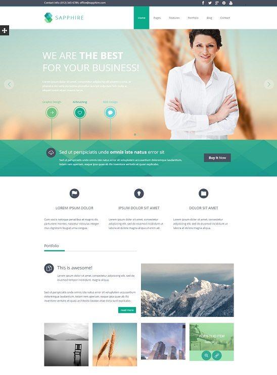 Sapphire - Responsive Business HTML5 Template