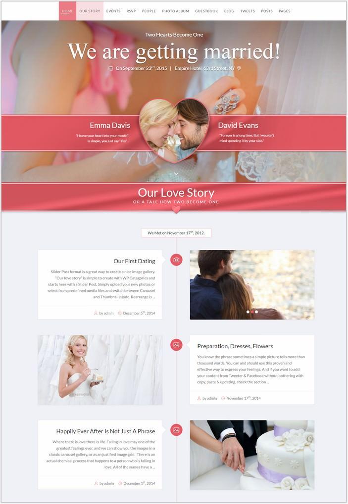 SayYes - WordPress PHP Wedding Theme