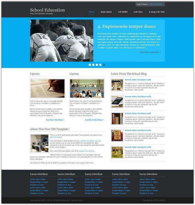 School Education Free Website Template