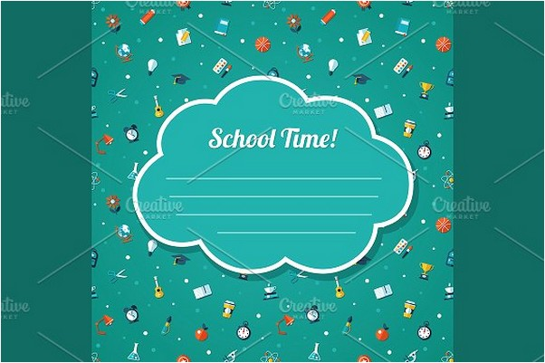 School Time Invitation Flyer Card