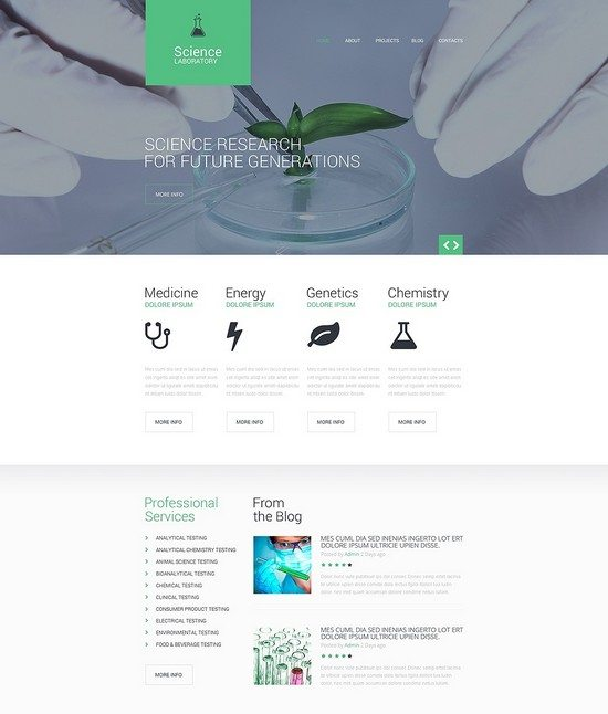 Science LABORATORY Responsive Website Template