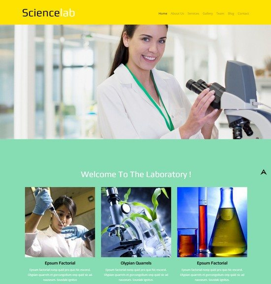 Science Lab a Medical Category Flat Bootstrap Responsive Web Template