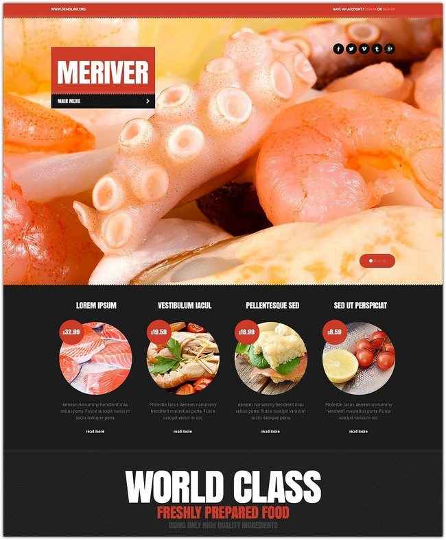Seafood Restaurant Drupal Template