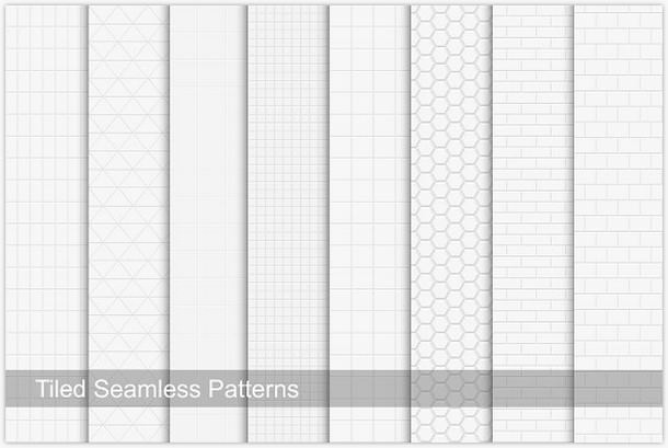 Seamless White And Gray Tile Textures