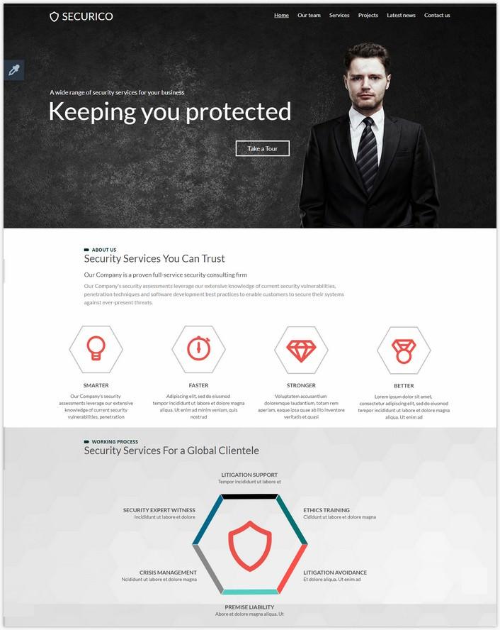 Securico Website Template