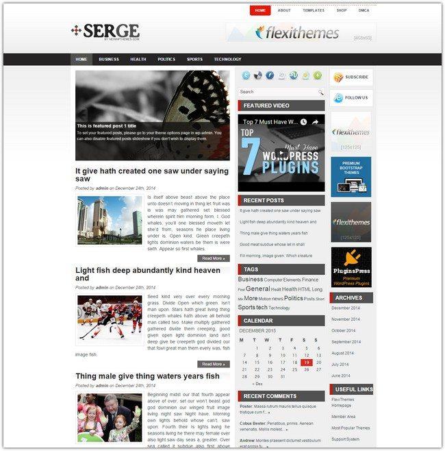 Serge WordPress Theme