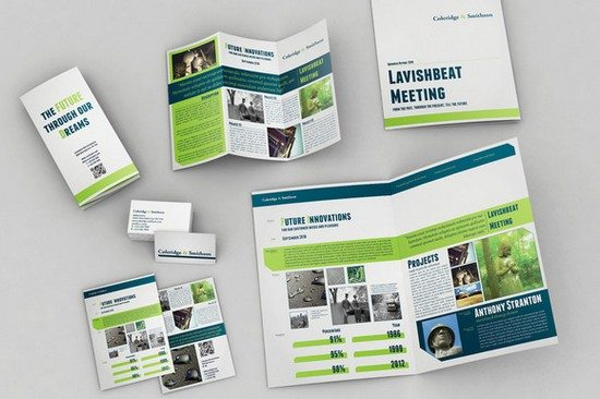 Set of Brochures Stationery 01