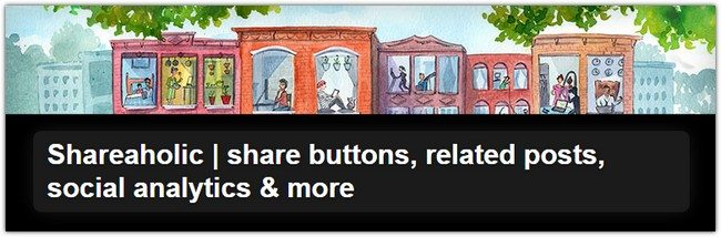 Shareaholic share buttons, related posts, social analytics & more