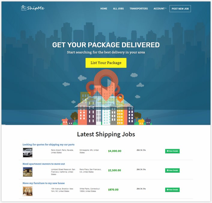 ShipMe Shipping Carriers Marketplace