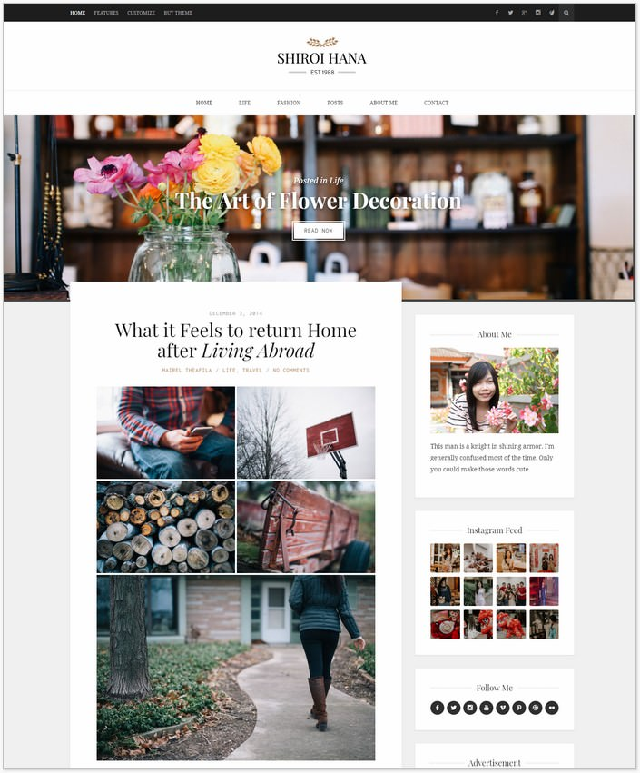 Shiroi Hana - Fashion WP PHP Theme
