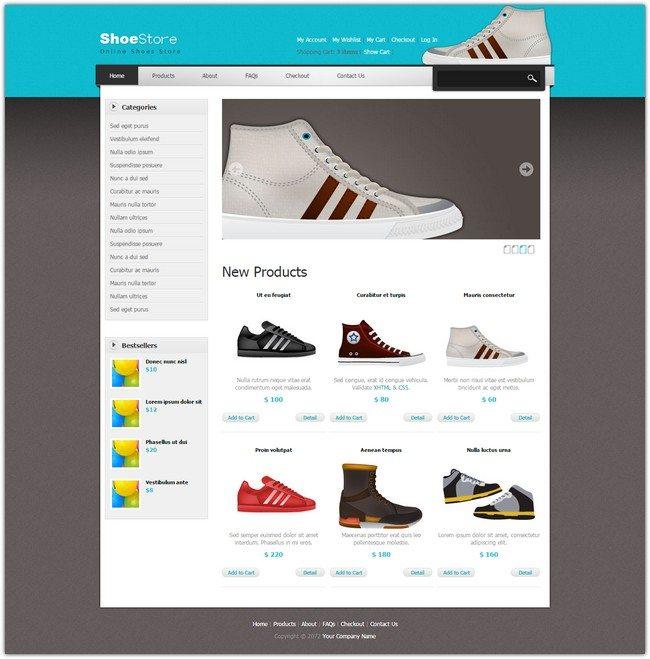 Shoes Dreamweaver Template