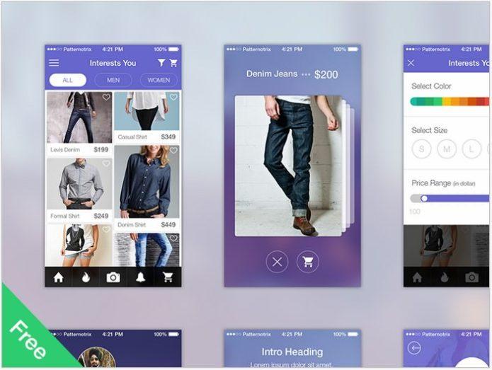 Shopping App – UI Kit Free
