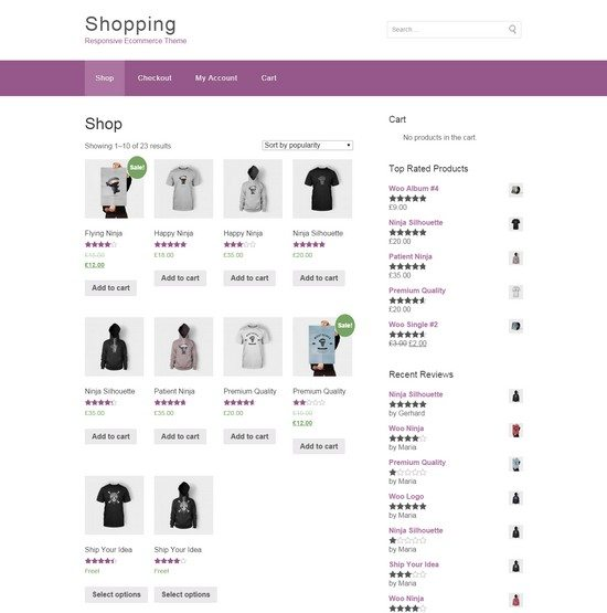 Shopping – eCommerce WordPress Theme