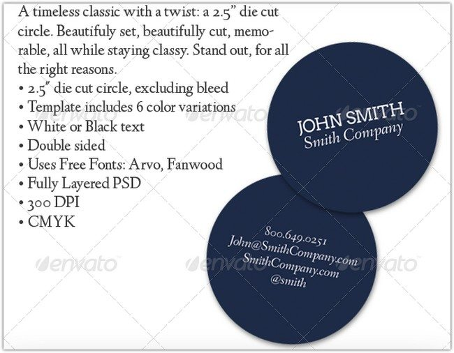 Simple Circle Premium Business Card