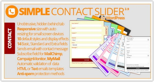 Simple Contact Slider