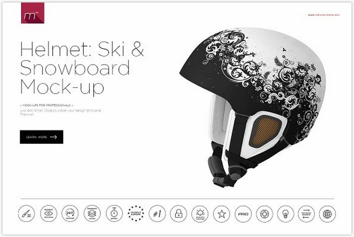 Ski & Snowboard Helmet Mock-up