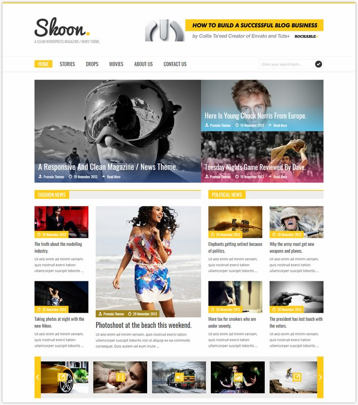 Skoon - WordPress Magazine Theme