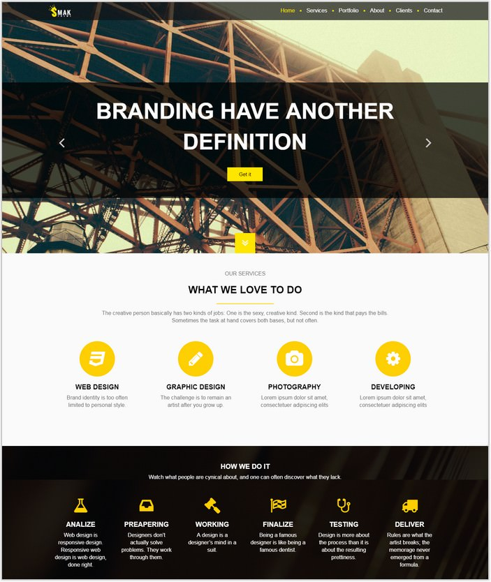 Smak - Free HTML single page template