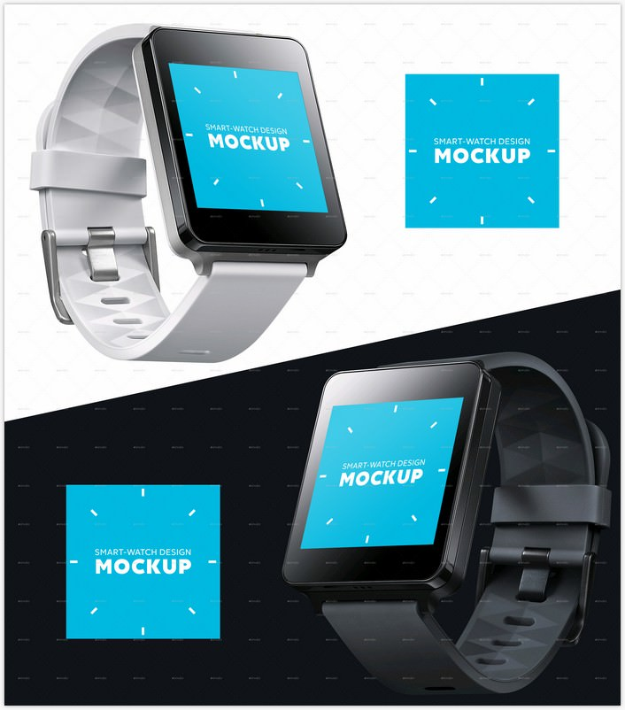 Smart square watch Design Mockup