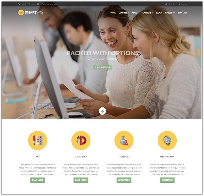 Smartway - Learning & Courses HTML Template