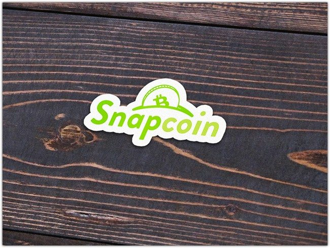 Snapcoin Sticker Mockup