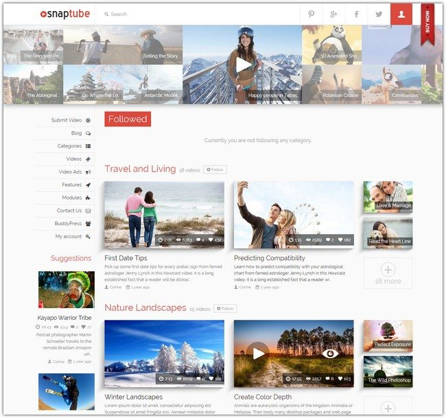 Snaptube – Premium Video WordPress Theme