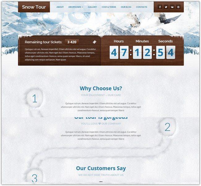 Snow Tour - WordPress Winter Travel Tour Theme