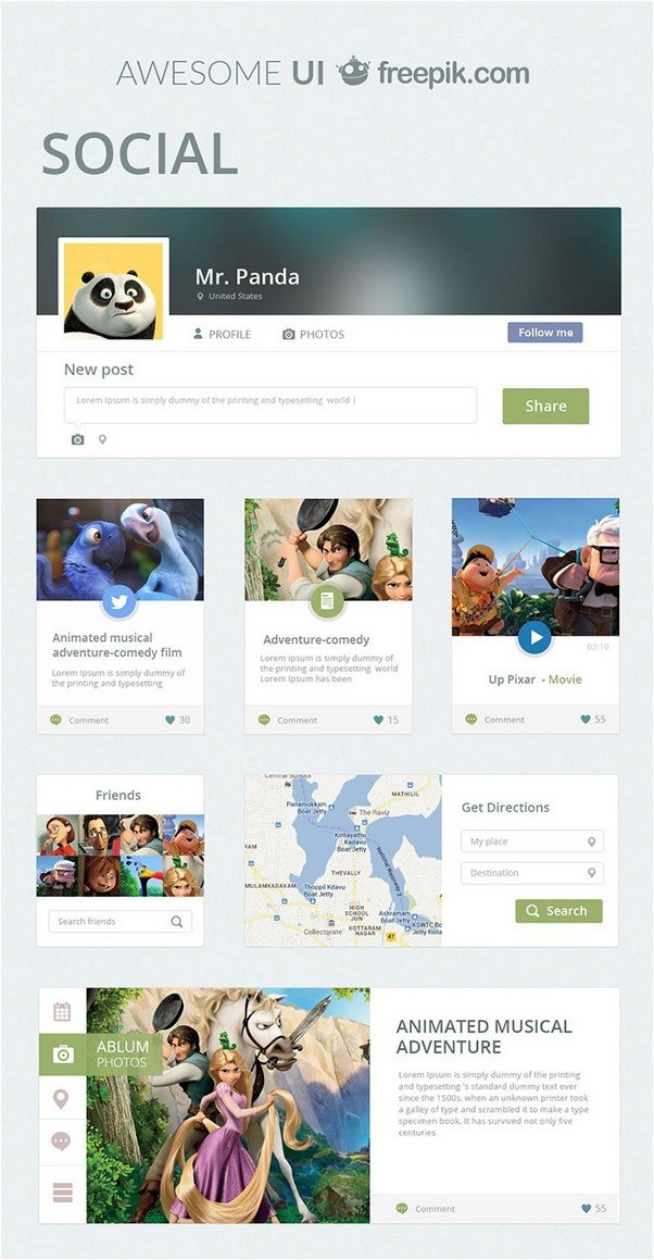 Social Awesome UI Kit