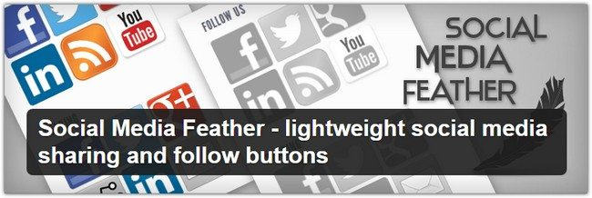 Social Media Feather - lightweight social media sharing and follow buttons