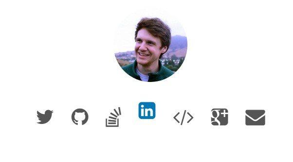 Social icon animation
